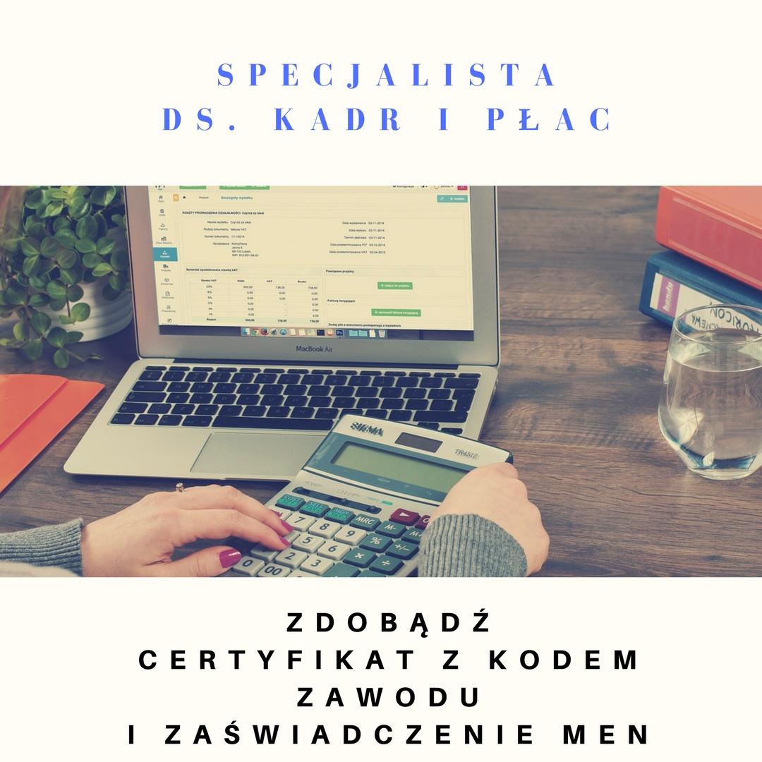 Kurs online Specjalista kadr i płac